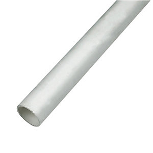 FloPlast WP01W Push-fit Waste Pipe - White 32mm x 3m