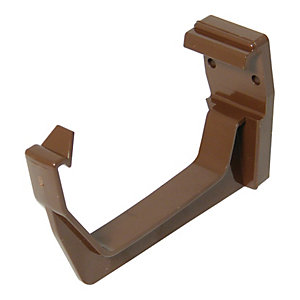 FloPlast 114mm Square Line Gutter Fascia Bracket - Brown