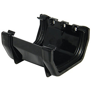 FloPlast 114mm Square Line Gutter Union Bracket - Black