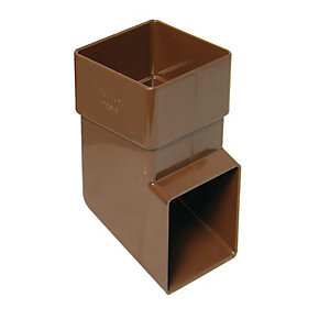 FloPlast 65mm Square Line Downpipe Shoe - Brown