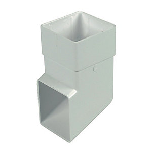 FloPlast 65mm Square Line Downpipe Shoe - White