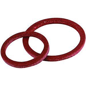 Wickes Fibre Washers - 8 x 12mm & 2 x 19mm Pack of 10