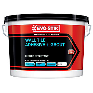 Evo-stik Ready Mixed Wall Tile Adhesive & Grout White 1L