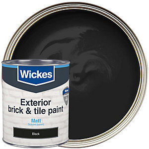 Wickes Brick & Tile Paint Matt Black 750ml