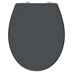 Wickes Soft Close Plastic Toilet Seat - Grey