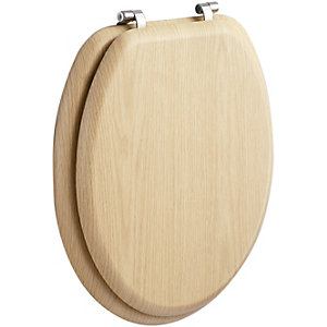 Wickes Soft Close Toilet Seat - Natural Pine Effect