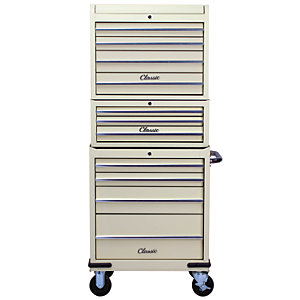 Hilka Classic 11 Drawer Mobile Combination Unit - Cream
