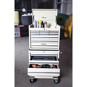 Hilka Classic 13 Drawer Mobile Combination Unit - Cream