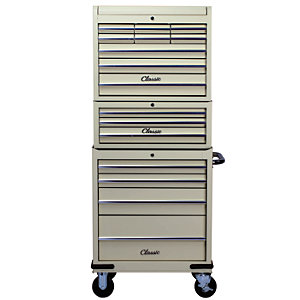 Hilka Classic 16 Drawer Mobile Combination Unit - Cream