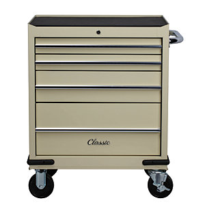 Hilka Classic 4 Drawer Tool Trolley - Cream