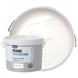 Wickes Contract Matt Emulsion Paint - Pure Brilliant White 15L