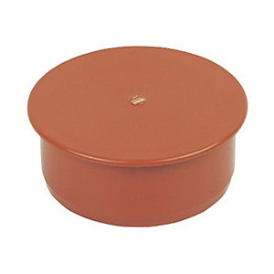 FloPlast 110mm Socket Plug - Terracotta