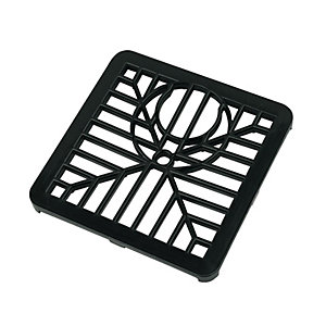 FloPlast 150mm Spare Square Drain Grid - Black
