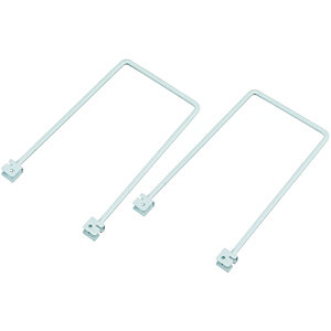 Wickes Twin Slot Flex Shelf Bookends - 200mm Pack of 2