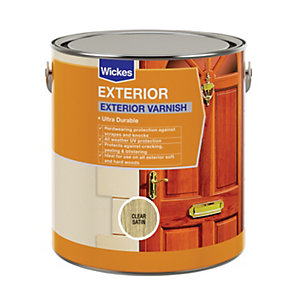 Wickes Exterior Varnish - Clear Satin 2.5L