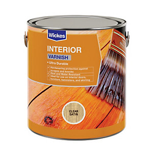 Wickes Interior Varnish - Clear Satin 750ml