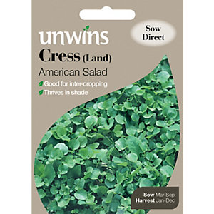Unwins American Salad Land Cress Seeds