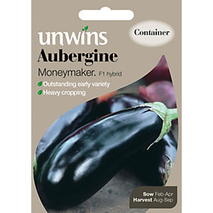 Unwins Moneymaker F1 Aubergine Seeds