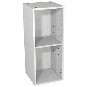 Wickes Vermont White Floorstanding or Wall Open Storage Unit - 300 x 735mm