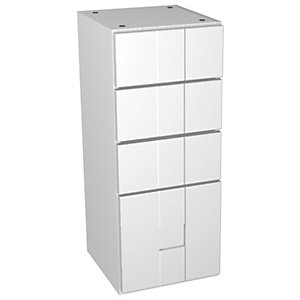 Wickes Vermont White Multi-drawer Floorstanding Storage Unit - 300 x 735mm
