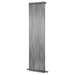Wickes Stratus Vertical Designer Radiator - Chrome 1800 x 300 mm