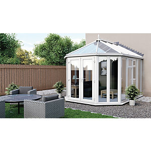 Euramax Victorian Glass Roof Full Glass Conservatory - 10 x 11 ft