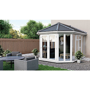 Euramax Victorian V2 Solid Roof Full Glass Conservatory - 10 x 11 ft