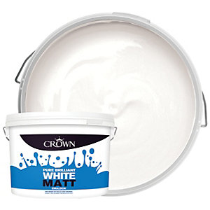 Crown Matt Emulsion Paint - Pure Brilliant White 10L