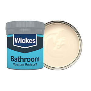 Wickes Magnolia - No. 310 Bathroom Soft Sheen Emulsion Paint Tester Pot - 50ml