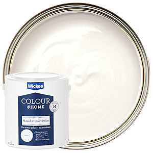 Wickes Mould Protect Emulsion Paint - White 2.5L