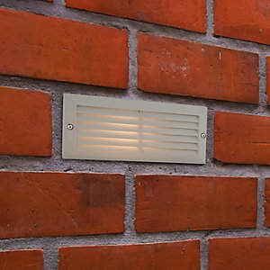 Saxby Gecko Textured Grey & Frosted Glass Brick Light