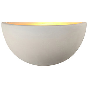 Wickes Quarter Sphere Wall Mounted Uplighter