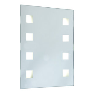 Wickes Sienna Rectangular Mirror with Integrated Halogen Lights - 10W
