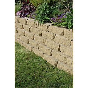 Marshalls Croft Textured Walling - Buff 300 x 170 x 100mm Pack of 90