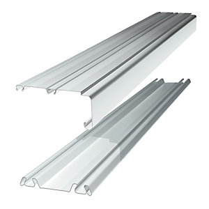 Spacepro Sliding Door Trackset - White 1.2-1.8m