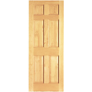 Wickes Durham Clear Pine 6 Panel Internal Door