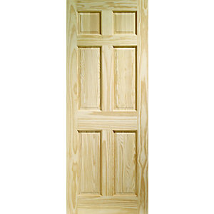 Wickes Durham Clear Pine 6 Panel Internal Fire Door