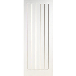Wickes Geneva White Grained Moulded Fully Finished Cottage Internal Door