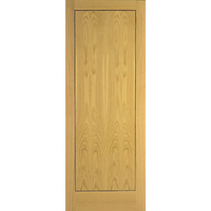 Wickes Gibson Oak Flushed 1 Panel Internal Door - 1981mm