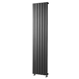 Wickes Haven Anthracite Flat Panel Vertical Designer Radiator - 1800mm - Various Widths Available