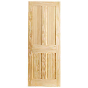 Wickes Skipton Clear Pine 4 Panel Internal Door