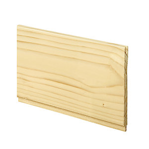Wickes Softwood Timber Traditional Cladding 8x94x1800mm