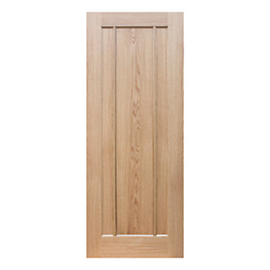 Wickes York Oak 3 Panel Pre Finished Internal Door  - 1981mm