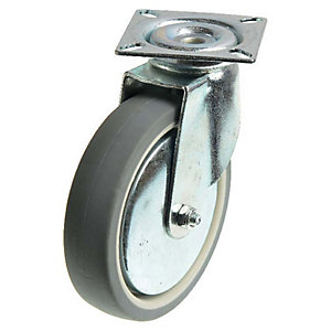 Wickes Heavy Duty Castor Wheel Swivel Plate - 100mm Pack of 2