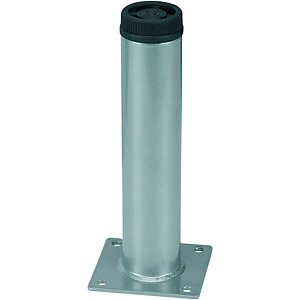 Wickes Round Interior Furniture Leg - Grey 32 x 150mm