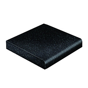 Wickes Laminate Worktop Upstand - Black Matt 70 x 12mm x 3m
