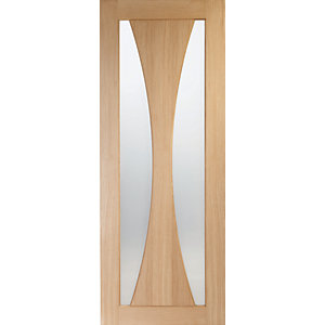 XL Joinery Verona Fully Glazed Oak Patterned Internal Fire Door - 1981mm