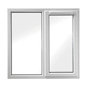 Wickes White UPVC Casement Window - Right Side Hung & Fixed Lite 1190 x 1160mm